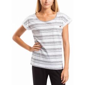 Melba White Stripe